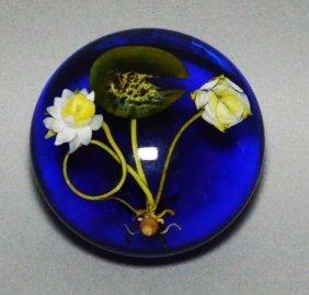 Paul Stankard Waterlillies Paperweight
