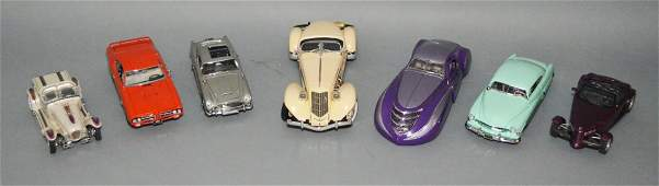 7 Franklin Mint Model Collector Cars