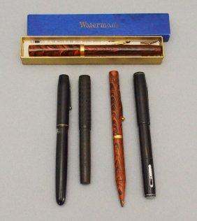 5 Vintage Waterman Fountain Pens