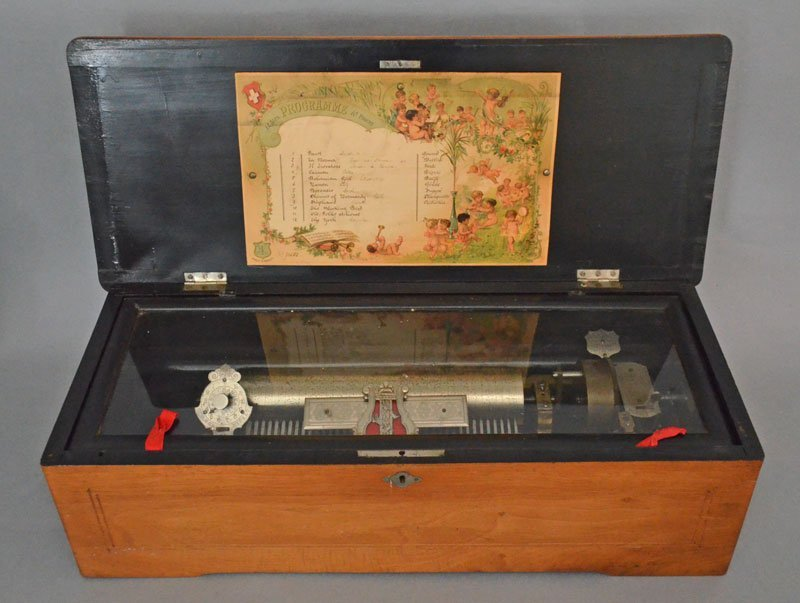 Tiger Maple Cylinder Music Box