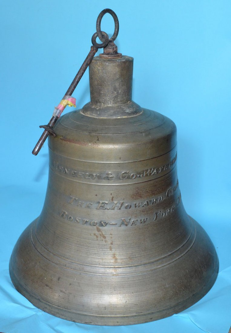 Historic Maneely Bronze Bell ( the Howard Clock Co,)