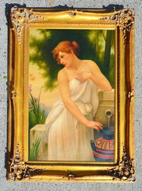Joseth Sharn Neoclassical Portrait of a Grecian Woman