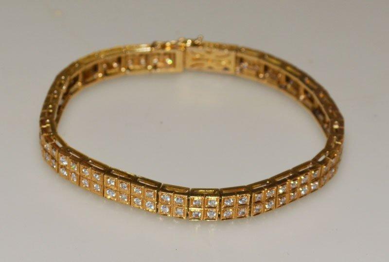 2.50 Carat 18k Gold Diamond Tennis Bracelet