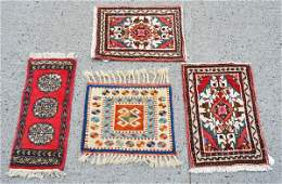 Group of 4 Small Prayer Rugs
