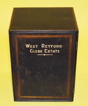 Glebe Estate Painted Metal Lock Box / Safe