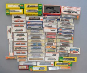 65 Minitrix, Herkal, Arnold, Lifelike, Etc Model Trains