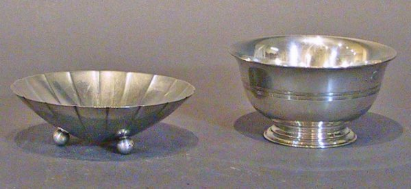 """1: Tiffany & Co. Sterling Silver Dish And Bowl """"m"""" Mark"""