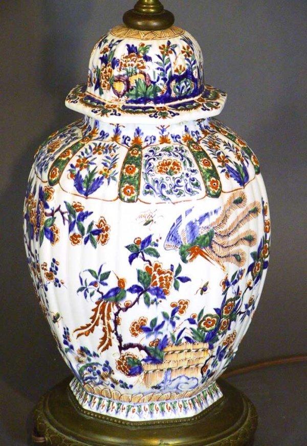 11: Antique 18th/19th Century Delft Lidded Imari Style