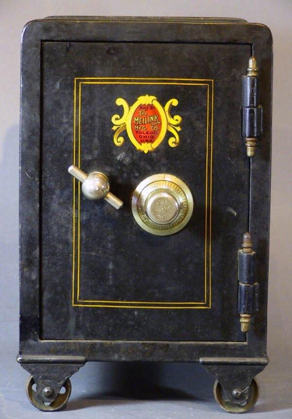 157: Small Antique Safe The Meilink Safe Co.Toledo Ohio - 2