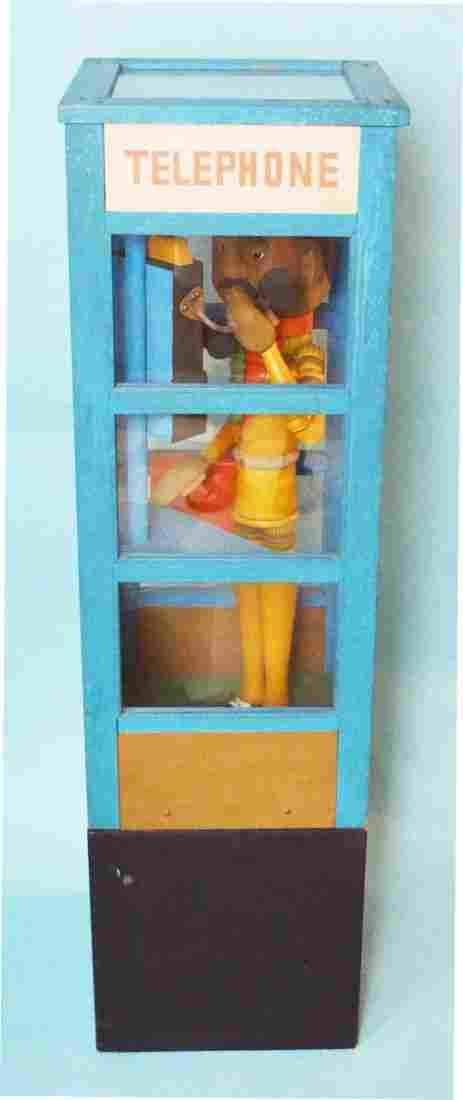 Telephone Booth Sculpture Signed Jacqueline Fogel