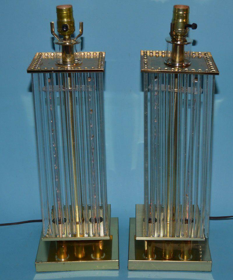 Pair of Gaetano Sciolari Waterfall Lamps