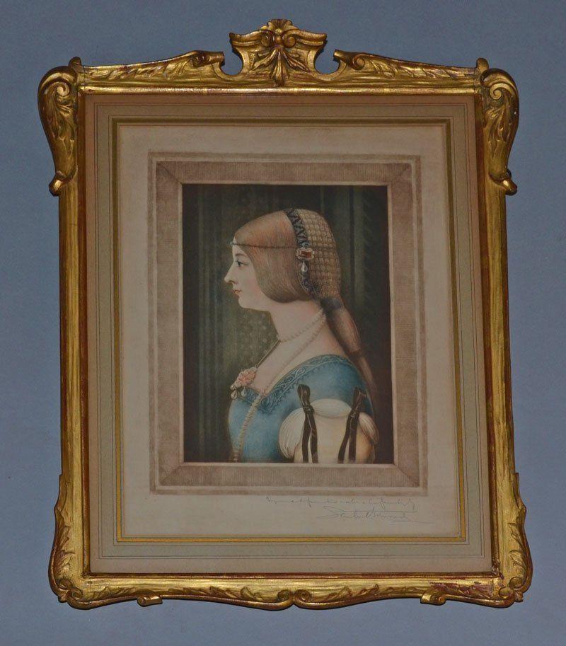 Samuel Arlent Signed Renaissance Woman