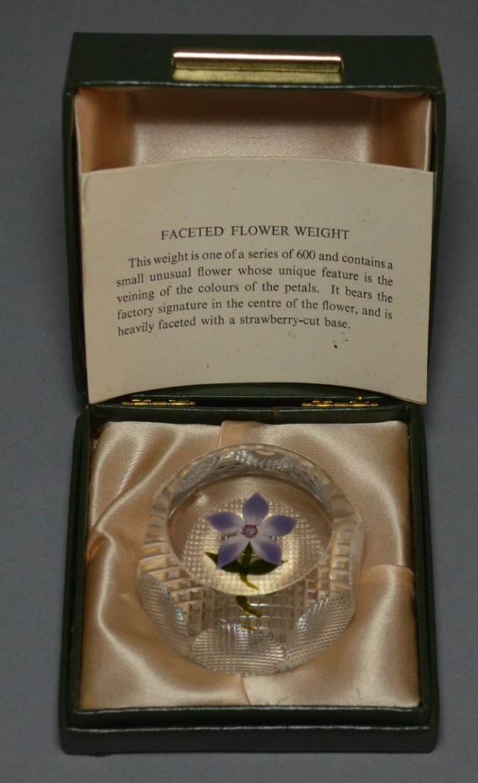 Perthshire Faceted Flower Glass Paperweight