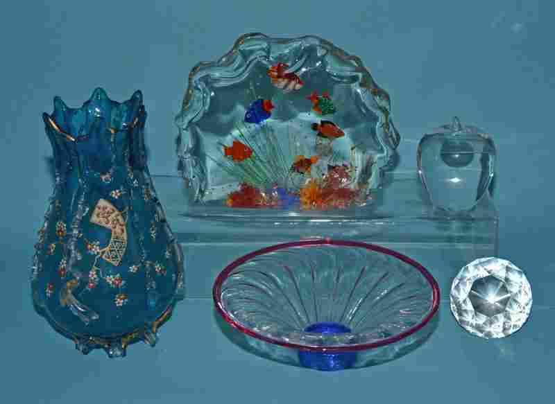 Glass Lot Including Tiffany Murano & Steuben