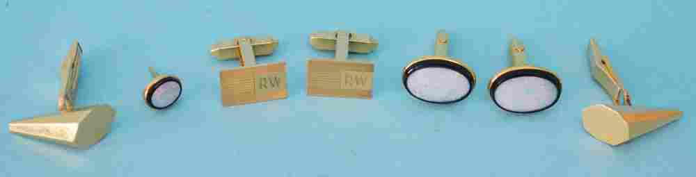 14k Gold Cufflinks (Fire Opal etc)