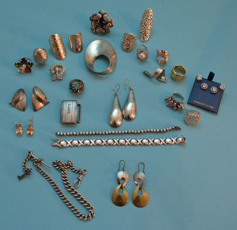 Generous Lot of Sterling Silver Jewelry