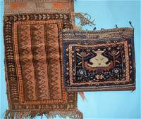 2 Antique Oriental Rug / Carpet Bags