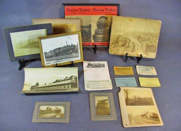 28: Lot of  Antique Train /Railroad Photos