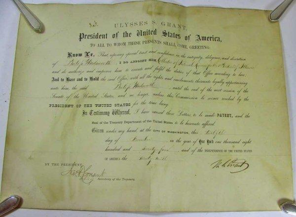 37: President Ulysses S. Grant Signed Document