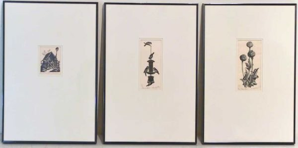 38: 3 Clare Leighton Signed Wood Engraving Prints
