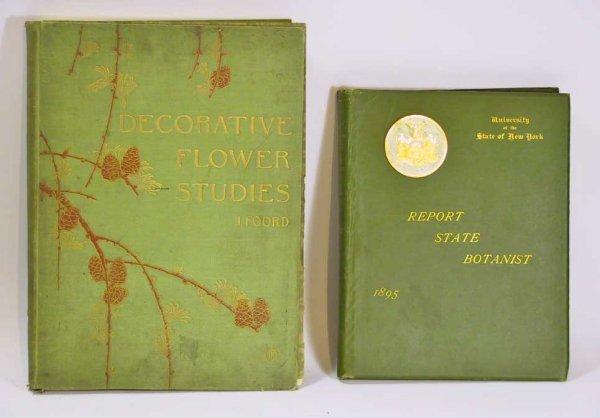 44: 2 Botany Books Mushrooms Flower Studies