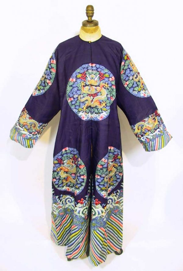 49: Important Antique Chinese Blue Imperial Robe