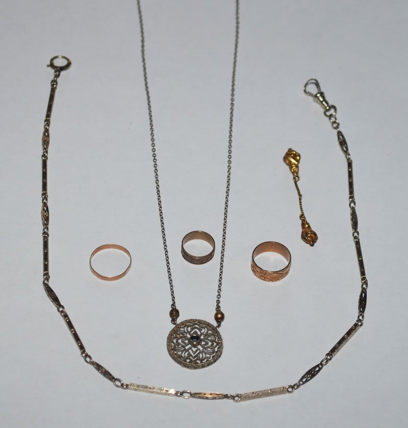 Great Lot Of Antique Jewelry (14K Chains & Rings)
