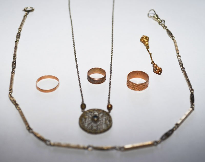 Great Lot Of Antique Jewelry (14K Chains & Rings) - 2