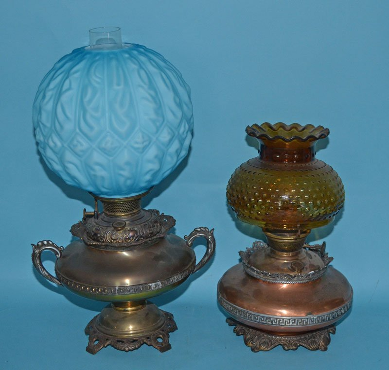 2 Oil Lamps Including Bradley & Hubbard