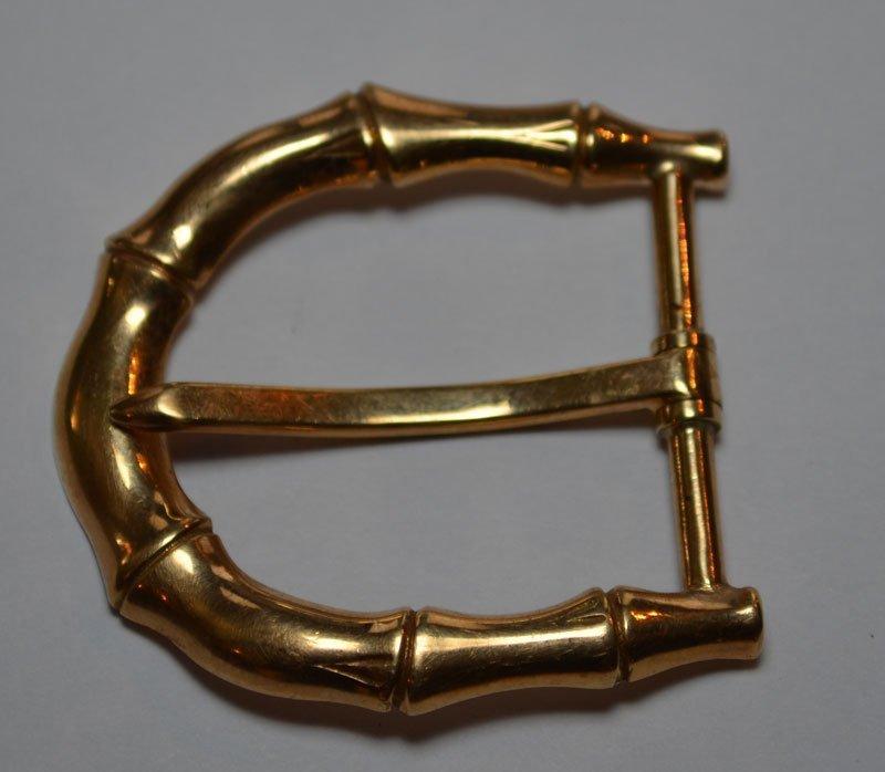 Vintage Tiffany & Co. 14K Gold Hair Clips & Belt Buckle - 2