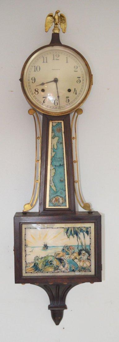 Vintage Ingraham Pirate Theme Banjo Clock