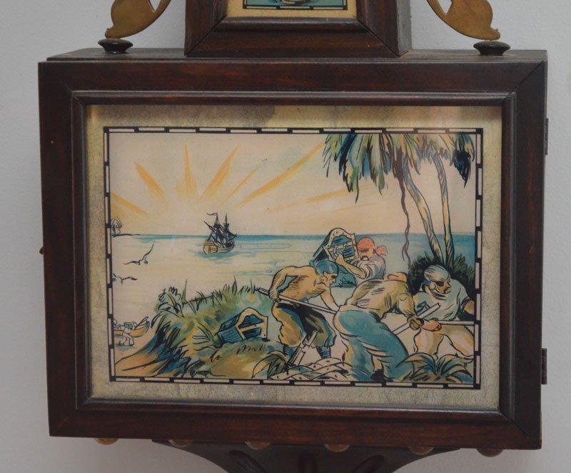 Vintage Ingraham Pirate Theme Banjo Clock - 2