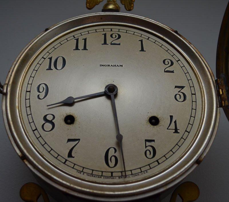 Vintage Ingraham Pirate Theme Banjo Clock - 3