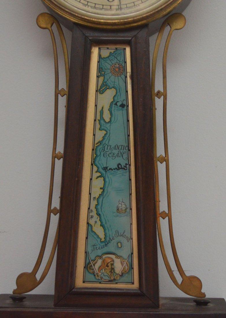 Vintage Ingraham Pirate Theme Banjo Clock - 4