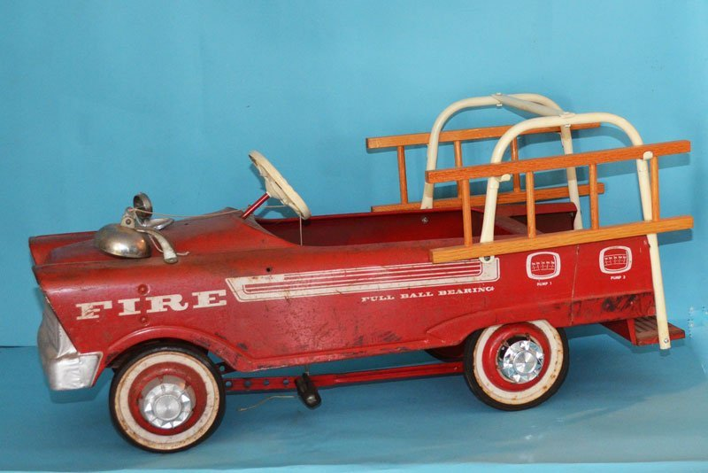 Vintage Murray Red Pedal Toy Fire Truck