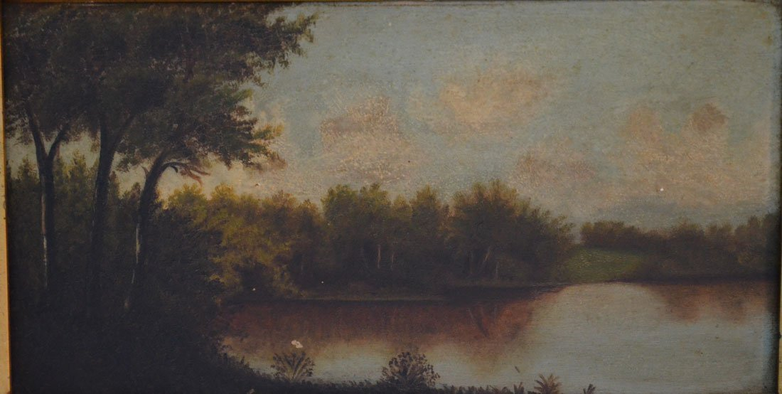 2 Small Hudson River Valley Paintings on Board - 2