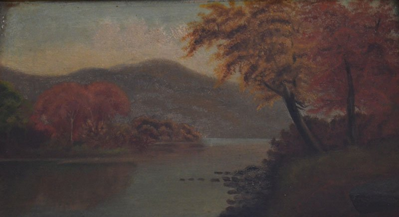 2 Small Hudson River Valley Paintings on Board - 3