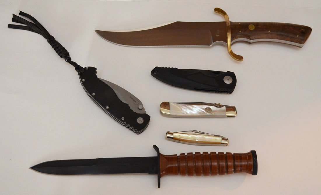 5 Large Boker Bowie Knives