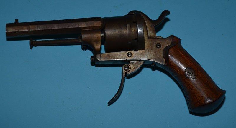 Antique German 6 Shot Folding Trigger Revolver - 2