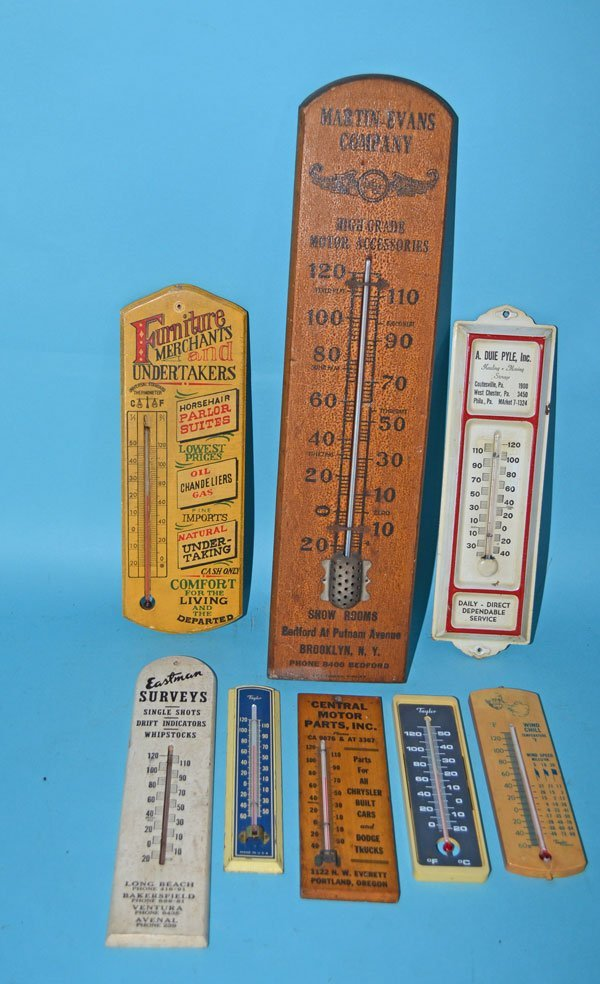 8 Vintage Advertising Thermometers