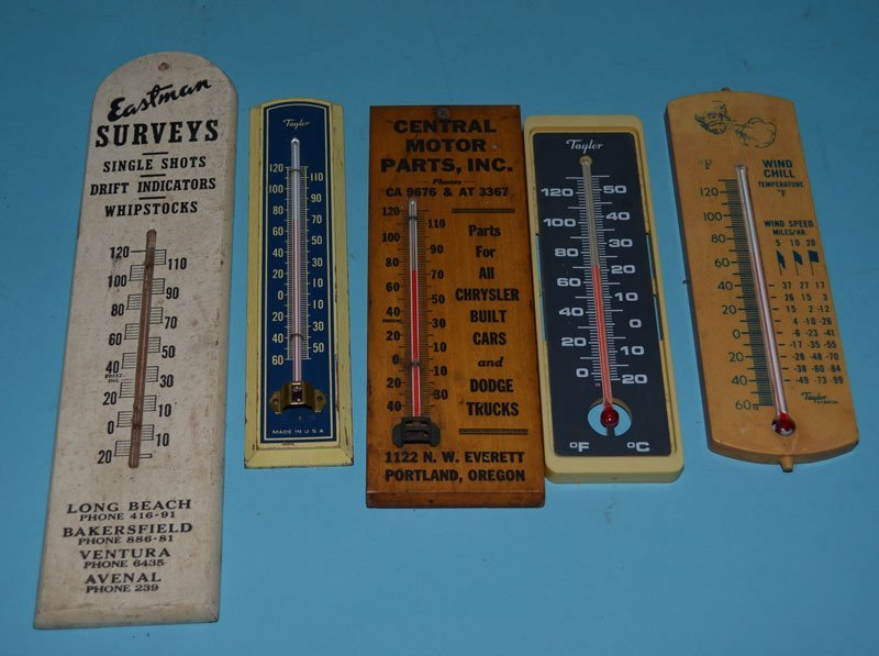 8 Vintage Advertising Thermometers - 3