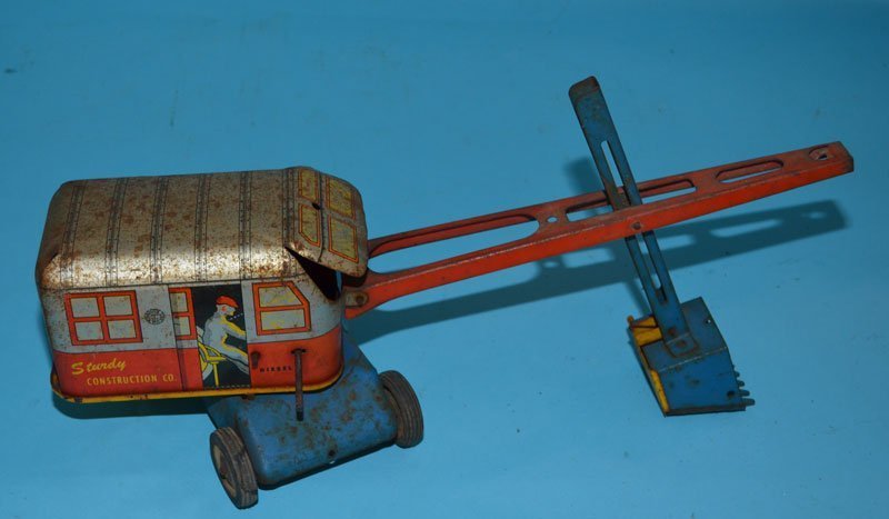 4 Vintage Tin Toy Trucks (Marx, Wyandotte) - 3