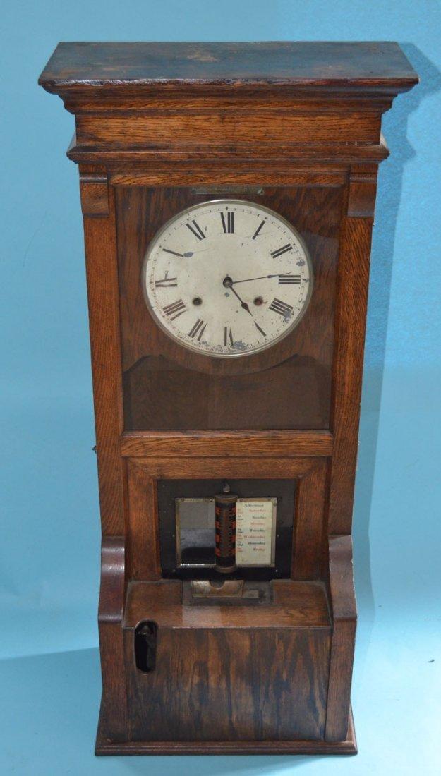 Cincinnati Time Recorder Co Tall Oak Time Clock