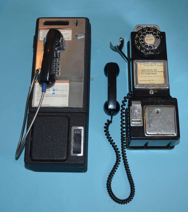 2 Retro Phone Booth Pay Phones