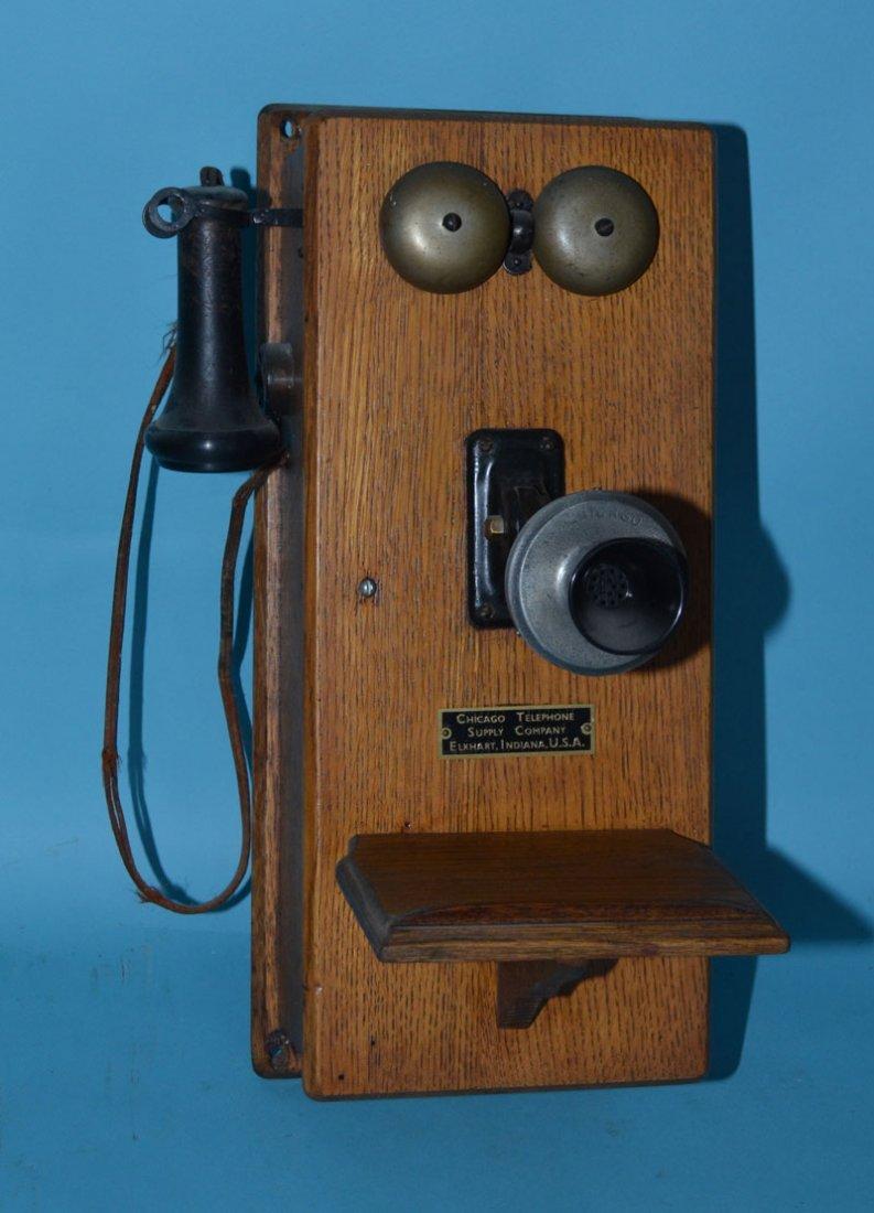 Vintage Oak Case Chicago Telephone