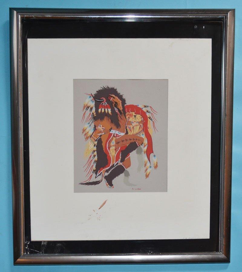 Signed Woody Crumbo Original Silkscreen
