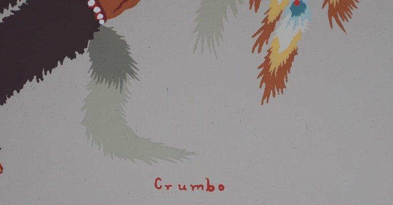 Signed Woody Crumbo Original Silkscreen - 2
