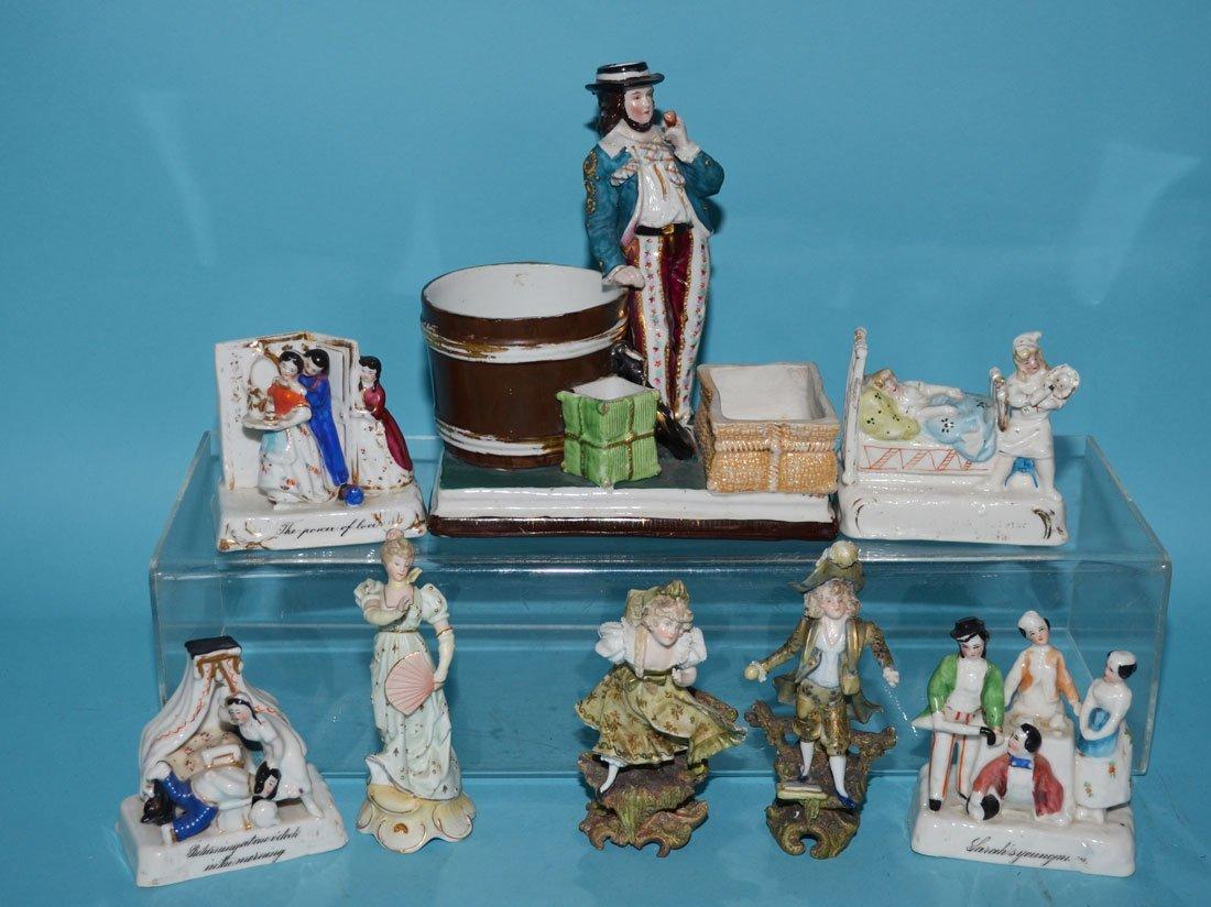 8 Vintage Bisque & Porcelain Figurines