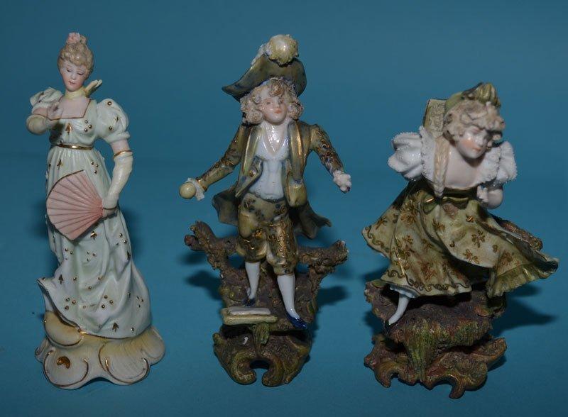 8 Vintage Bisque & Porcelain Figurines - 5