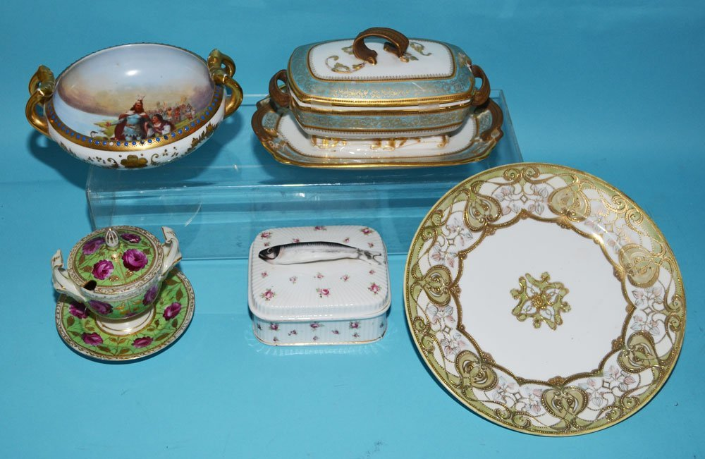 Generous China Lot with Sardine Box ect